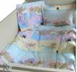 Бебешки спален комплект памук Лека нощ в синьо