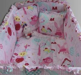Бебешки Спален Комплект Каре в Розово