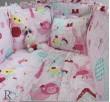 Бебешки спален комплект памук Каре в розово