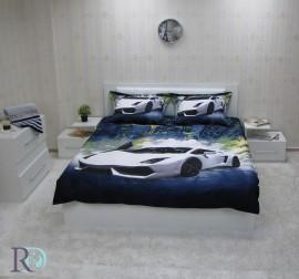 Спален комплект памучен сатен Ламборгини