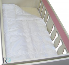Памучна олекотена завивка за бебе   Бяла