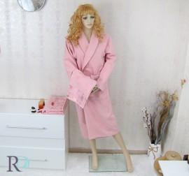 Комплект Халат за баня и хавлии Дебора Розово