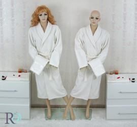 Комплект 2 броя Халат за баня и хавлии Дебора Крем