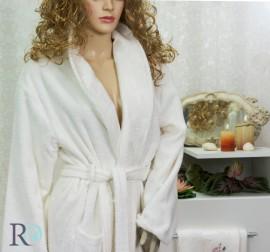 Комплект Халат за баня и хавлии Виктория Крем