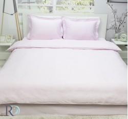 Спален Комплект Памучен Сатен Едноцветен Светло Розово