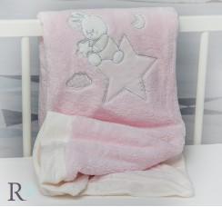 Бебешко Одеяло Доди Розово с Апликация