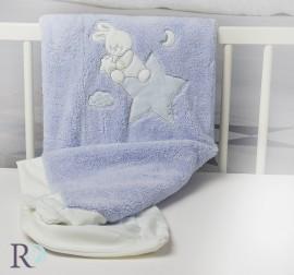 Бебешко Одеяло Доди Синьо с Апликация