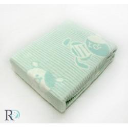 Бебешко Памучно Одеяло Мече Аква