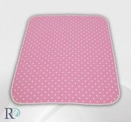Бебешко Памучно Одеяло Розово на Точки