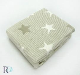 Бебешко Памучно Одеяло Звезди Бежово