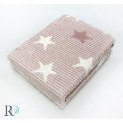 Бебешко Памучно Одеяло Звезди Пепел
