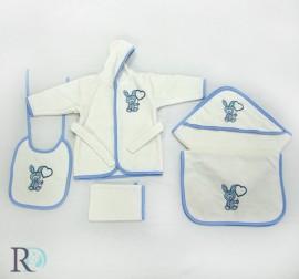 Бебешки Комплект Халат и хавлии Бамби Синьо