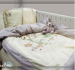 Бебешки Спален Комплект Маймунки с Бродерия