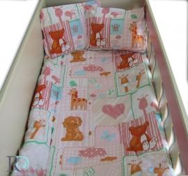 Бебешки Спален Комплект Лъвче в Розово