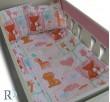 Бебешки спален комплект памук Лъвче в розово
