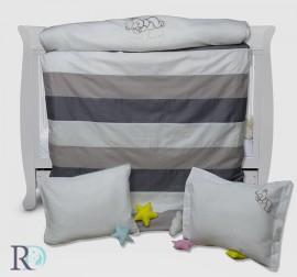 Бебешки Спален Комплект Спящо Мече Бежово с Бродерия