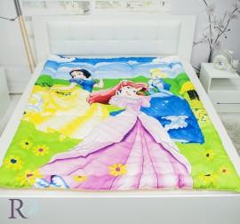Детска Олекотена Завивка Памучен Сатен Три Принцеси