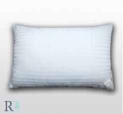 Възглавница от сатенирано райе бяло с пълнеж от 800 г силиконов пух на гранули