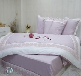 Спален комплект с дантела Сиси лила бяло
