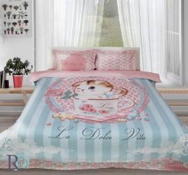 Спален комплект от памучен сатен Долче Вита