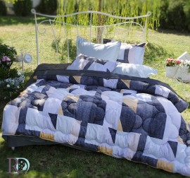 Спален Комплект Памучен Сатен Дафи със завивка